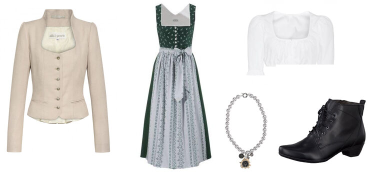 Dirndl-Look traditionell