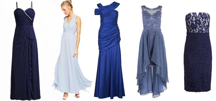 Blaue Abendkleider