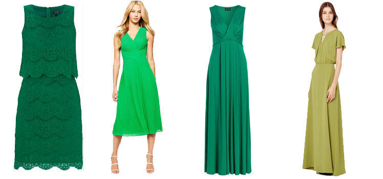 Grüne Abendkleider