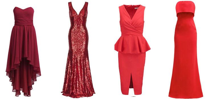 Rote Abendkleider