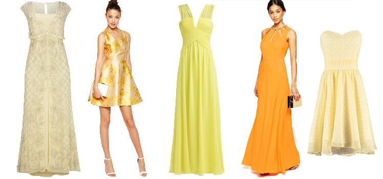 Gelbe Abendkleider