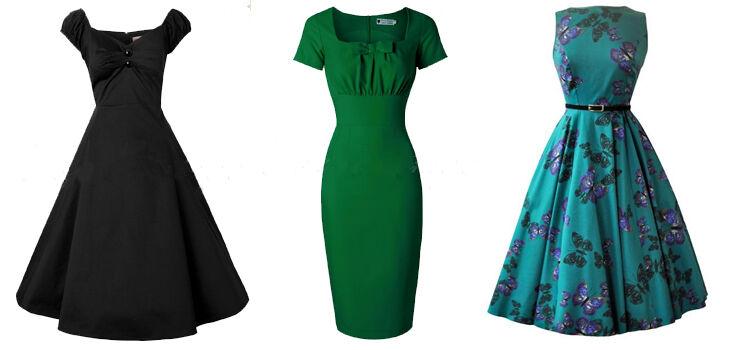Festliche Kleider im 50er Stil