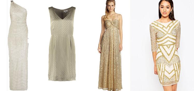 Goldenes Kleid Hochzeit
