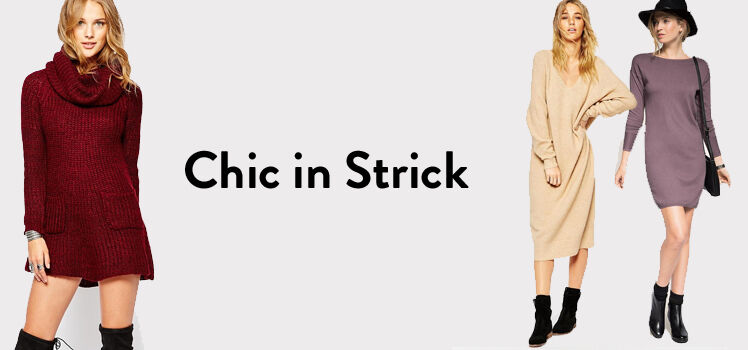 Strickkleider Trend 2015/16