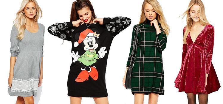Kleider mit Weihnachtsmotiv