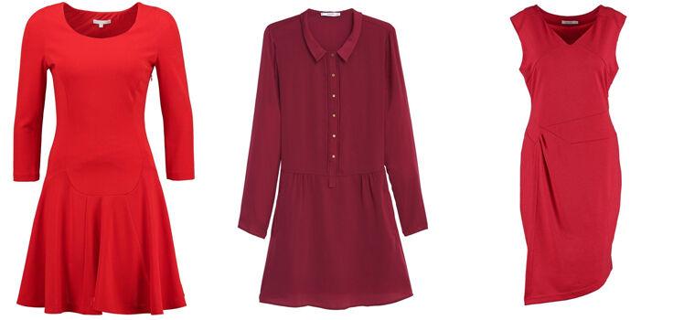 Rote Kleider für Weihnachten bei den Schwiegereltern was anziehen