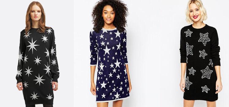 Strickkleider mit Sternen
