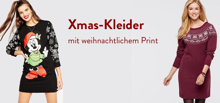 Kleider mit weihnachtlichem Print