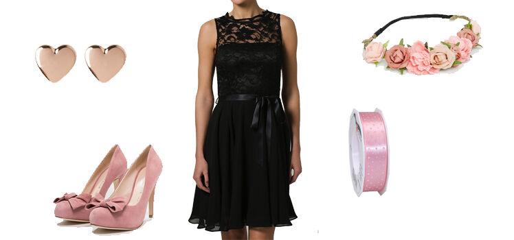 Schwarzes Kleid Hochzeit romantisch