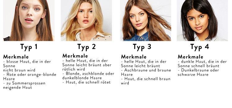 Welche Farben stehen mir Hauttypen