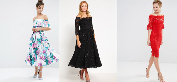 Festliches Off-Shoulder Kleid