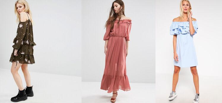 Off Shoulder Kleid Alltag