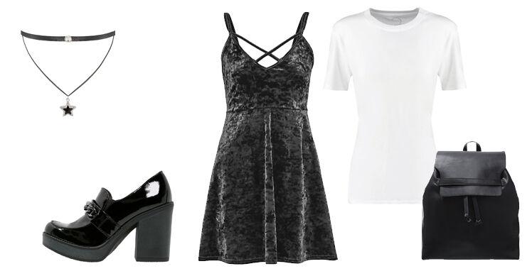 Kleid-im-Herbst Samtkleid kombinieren