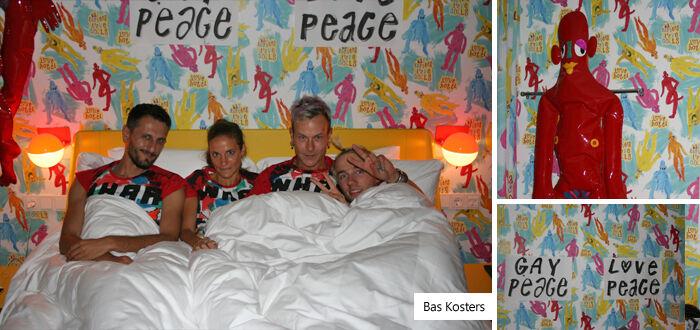 De kamer van Bas Kosters in hotel Modez in Arnhem