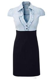 Zakelijk jurkje blauw