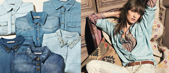 Mango denim in lente 2013 lookbook