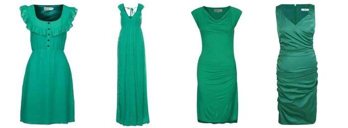 Jurkjes in de Pantone kleur van het jaar 2013: Smaragdgroen