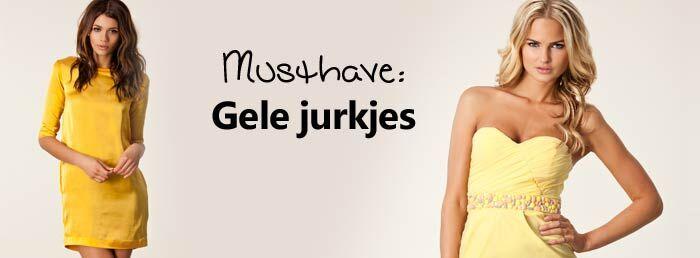 Musthave: Gele jurkjes