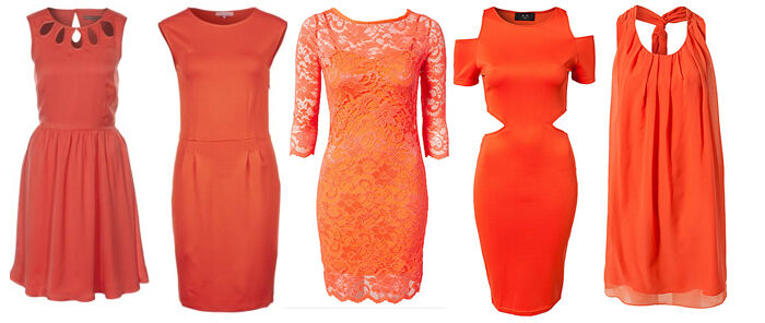Oranje jurken op Jurkjes.nl
