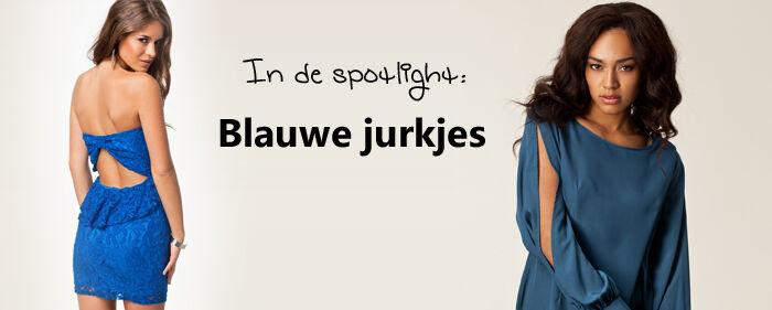 Blauwe jurken | Jurkjes.nl