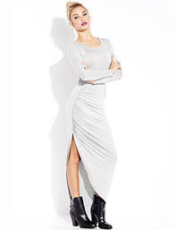 Forever 21 Simply Stated Ruched Maxi Dress