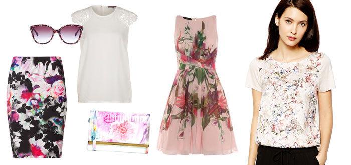 Trend 2014 bloemenprint bruiloft
