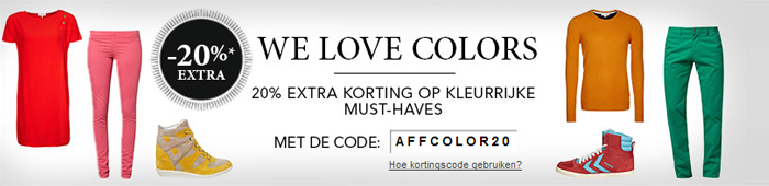 Kortingscode Zalando voor gekleurde jurkjes
