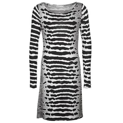 Zwart-wit gestreept kleedje