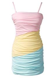 Gekleurd kleedje lente