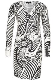 Grafische print kleedje zwart-wit