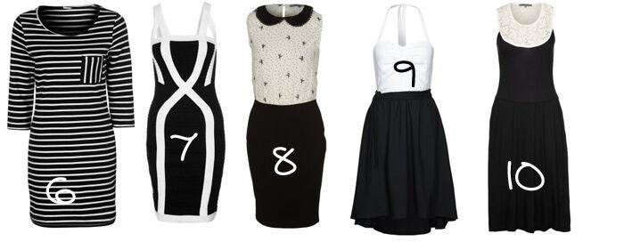 Zwart wit jurkjes | Kleedjes.be