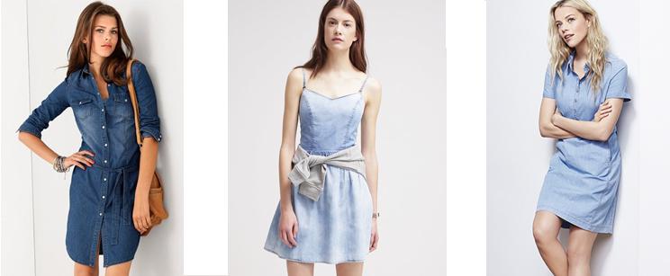 Denimkleedjes trend lente/zomer 2015