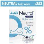 Baby Billendoekjes - 4 x 63 = 252 stuks - 0% Parfum