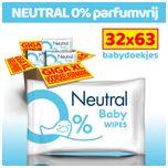 Baby Billendoekjes - 32 x 63 stuks - 0% Parfum