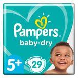 Pampers Luiers Baby Dry Gr. 5+ Junior Plus 29 luiers 12 tot 17 kg