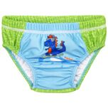 Playshoes UV-beschermende luierzwembroek Dino blauw-groen
