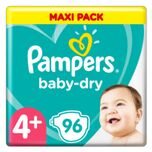 Pampers Luiers Baby Dry Gr. 4+ Maxi Plus 96 luiers 10 tot 15 kg triple-pack