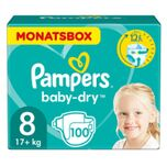 Pampers Baby Dry Gr. 8 Extra Large 100 Luiers 17+kg Month box