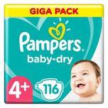 Pampers Baby Dry Gr.4+ Maxi Plus 112 luiers 10 tot 15 kg Giga Pack