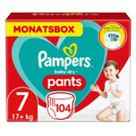 Pampers Baby Dry Pants Gr. 7 Extra Large Plus 104 Luiers 17+ kg Month box