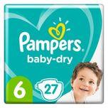 Pampers Luiers Baby Dry Maat 6 Extra Large 27 Luier 13+ kg Maandbox