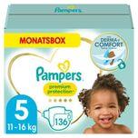 PAMPERS Premium Protection Maat 5 Junior 11 - 23kg Maandbox 136 stuks