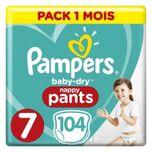 Pampers Baby-droge Broek Maat 7, 17 + Kg, 104 Lagen 1 Maandpakket