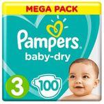 Baby-dry Luiers - Maat 3 - 100 Stuks