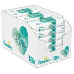 Aqua Pure Sensitive Babydoekjes Voordeelverpakking - 18 X 48 Stuks (864 Stuks)