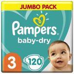 Baby Dry Maat 3 - 120 Luiers Voordeelverpakking
