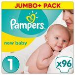 Premium Protection New Baby Maat 1 (Newborn) 2-5 Kg, 96 Luiers - Jumbo Pack
