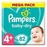 Baby-dry Maat 4+, 82 Luiers