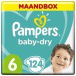 Baby Dry Luiers Maat 6 - 124 Luiers Maandbox