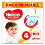 Ultra Comfort - Unisex Babyluiers X150 Maat 4 - 1 Maandverpakking
